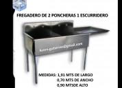 Fregaderos, fregaplatos de acero inoxidable