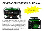 Planta electrica dual portÁtil duromax xp4850eh
