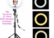 Aro de luz para selfie youtubers tiktokers