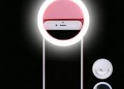 Aro-anillo de luz led portati para selfies recarga