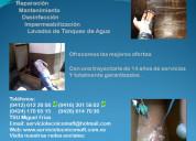 Desinfección lavado limpieza tanques agua caracas