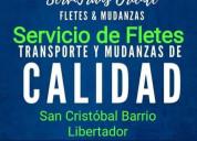 Servicio de transporte de carga mudanzas y fletes