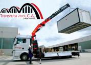 Servicio  camiones con brazo hidráulico alquiler