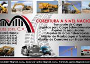 alquiler camiones con brazo hidráulico servicio