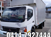 Camión cerrado para transporte de carga mudanzas y
