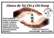 Clases de tai chi, chi kung y masajes