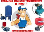 ReparaciÓn e instalaciÓn de bombas de agua e hidro