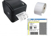 Kit  codigo barra 3nstar ldt104 programa etiquetas