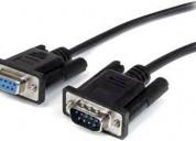 Cable serial original robotizado db9/db9 macho/hem