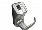 Cerradura biométrica huella-clave, indoor- acero 1