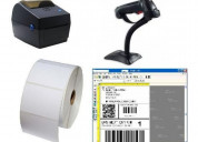 Kit impresora codigo barra lector programa etiquet