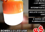 Bombillo recargable usb 100w