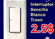 Interruptor sencillo blanco