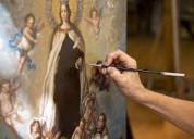 Realizo restauraciones de sus cuadros pintados en