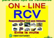 Póliza rcv online para todo tipo de vehículos