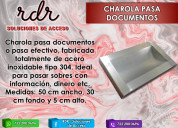 Charola pasadocumentos- rdr soluciones de acceso