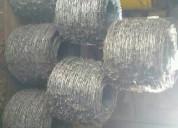 6 rollos de alambres púas galvanizado