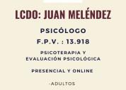 Atención psicológica orientada a: adultos, adolesc