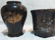 Florero y jarrón de cerámica de diseño japonés