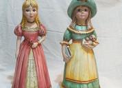 02 adornos muñecas de porcelana