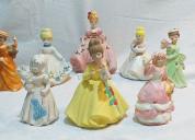 08 adornos de muñequitas en vestidos de cerámica