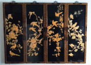 05 cuadros vintage asiático, enmarcado oriental
