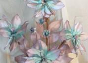Flores turquesa artificiales para decoracion