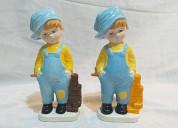 Muñequitos europeos de cerámica para decorar
